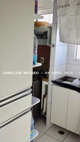 apartamento para venda em natal, pitimbu/satélite, 3 dormitórios, 2 suítes, 3 banheiros, 2 vagas - ap1043-natal brisa