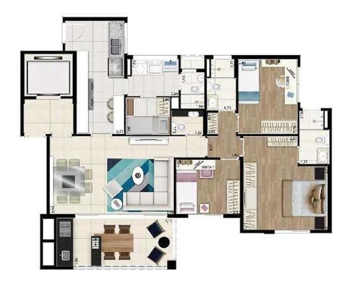 apartamento para venda em são paulo, alto de pinheiros, 4 dormitórios, 3 suítes, 4 banheiros, 3 vagas - cap2516_1-1211213