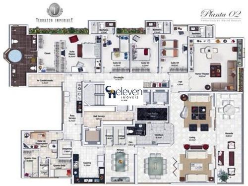 apartamento para venda horto florestal, salvador 4 dormitórios sendo 3 suítes, 2 salas, 6 banheiros, 5 vagas 386,00 útil - ap00522 - 32257041
