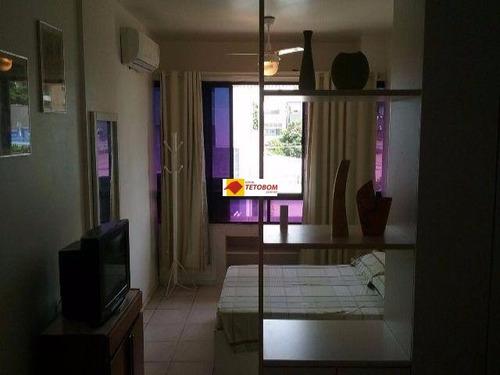 apartamento para venda na barra - valor: r$ 320.000 - 1 quarto/sala - 1 vaga de garagem - mobiliado - excelente localização! - ta40 - 3123719