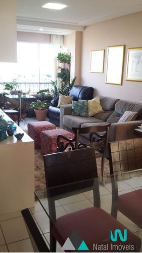 apartamento para venda na cidade satélite, natal, com 3 quartos e dependência - natal brisa - ap00185 - 33806617