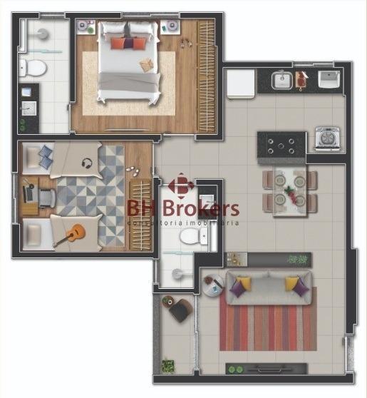 apartamento para venda no buritis - 17723
