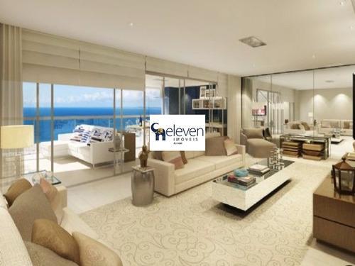 apartamento para venda  orizon wiews / ondina, salvador 4 dormitórios sendo 4 suítes, gabinete , 2 salas, 7 banheiros, 5 vagas 330,00 útil, pronto para morar. valor r$ 3.300.000,00 - ap01589 - 328903