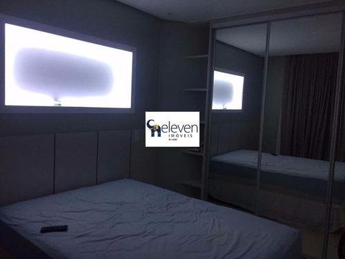 apartamento para venda patamares, salvador nascente, vistar mar 1 dormitório sendo 1 suíte, 1 sala, varanda, 1 banheiro, 1 vaga coberta, 55 m². - tjl254 - 4726495