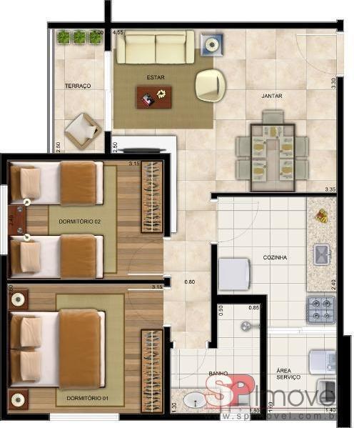 apartamento para venda por r$335.000,00 - vila amélia, são paulo / sp - bdi19080