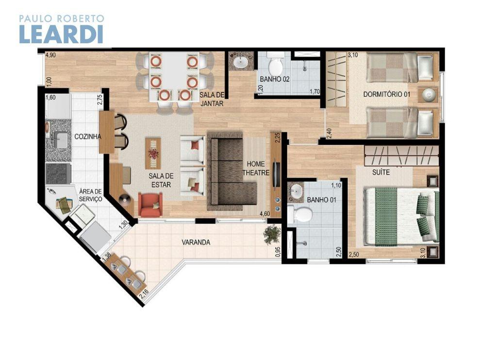 apartamento parque novo mundo - são paulo - ref: 483097