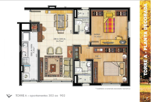 apartamento - passo da areia - ref: 237677 - v-237677
