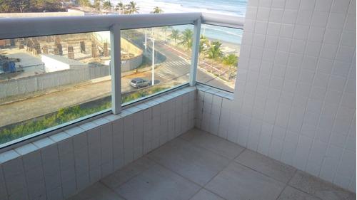 apartamento pé na areia de frente para o mar!! ref. ap0014