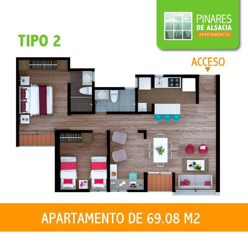 apartamento  pinares de alsacia