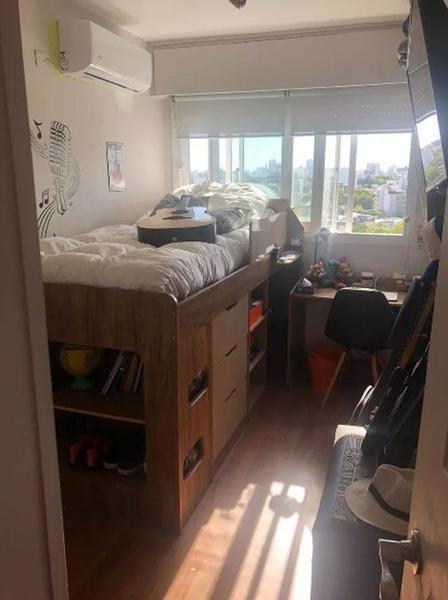 apartamento - pocitos. con estufa a leña y vista