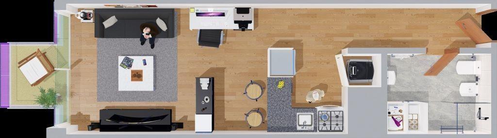 apartamento pocitos venta monoambiente, rivera y obligado ed. colors al frente