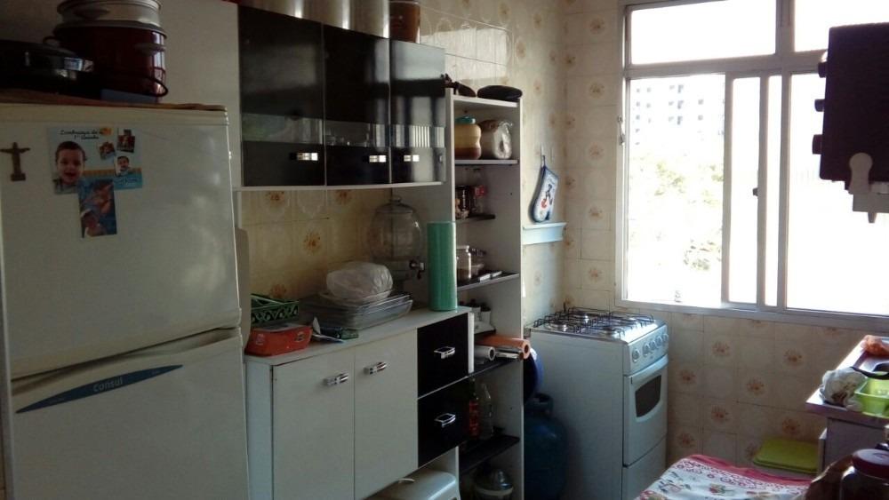 apartamento praia grande 1 quarto, 1 wc, sala e cozinha