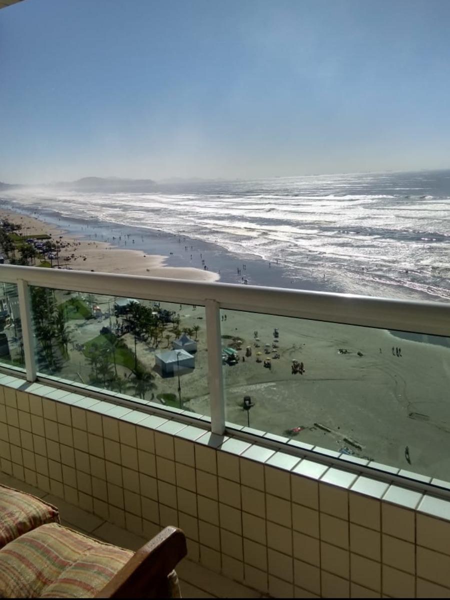 apartamento praia grande frente para o mar