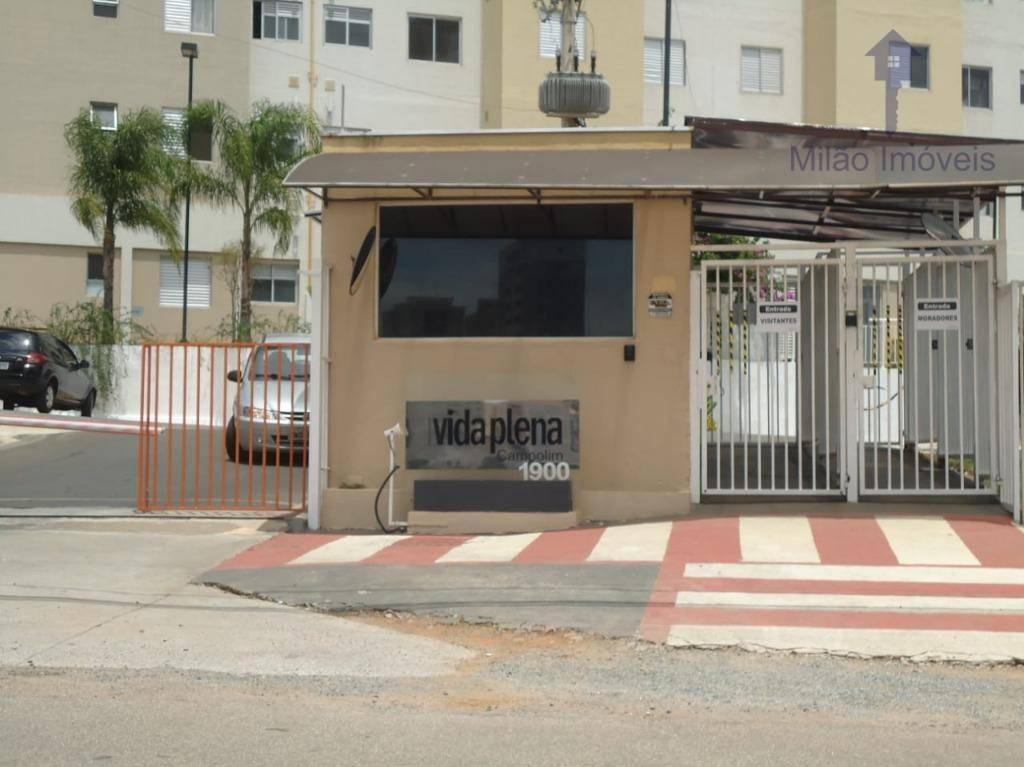 apartamento privativo ultimo andar p/ locação-condomínio vida plena-campolim-sorocaba/sp - ap0395