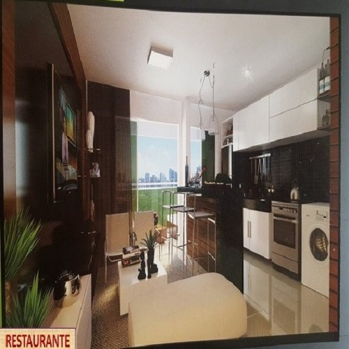 apartamento pronto com semi mobília e estrutura de hotel