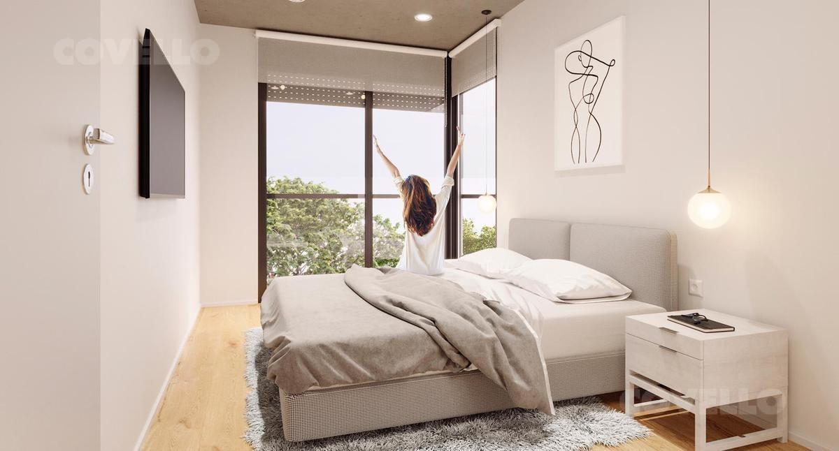 apartamento  puerto buceo 1 dormitorio al frente, cocina definida, terrazas.