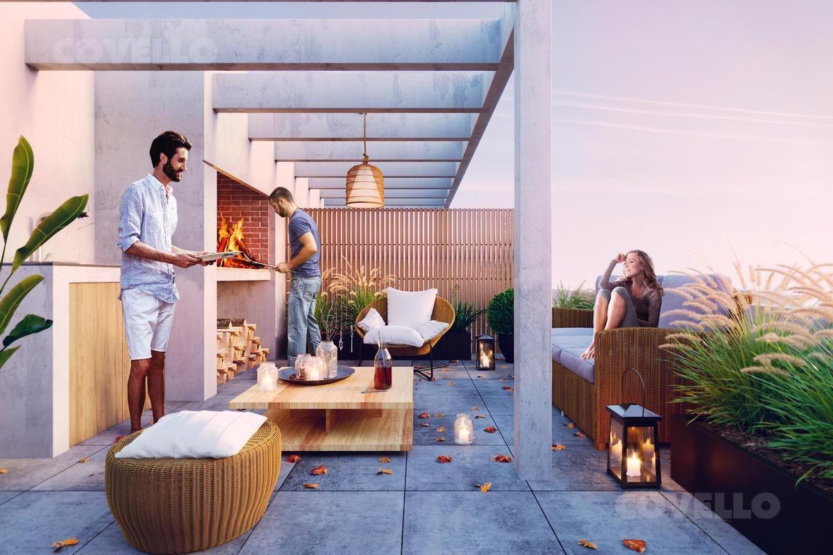 apartamento  puerto buceo , 1 dormitorio  al frente  con terraza. ideal renta.