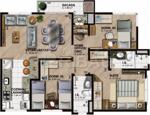 apartamento - ref: 14325