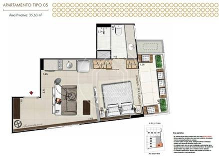 apartamento - ref: 735360