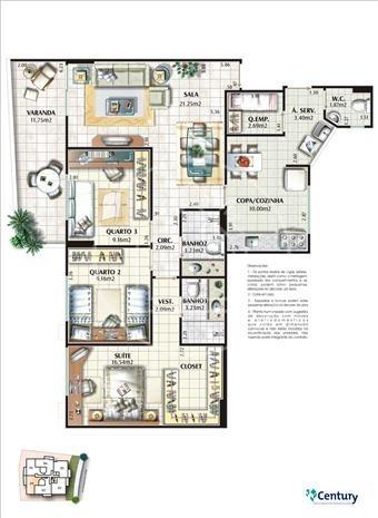 apartamento - ref: 768429