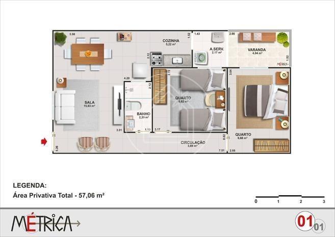 apartamento - ref: 829460