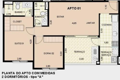 apartamento - ref: 9864cd