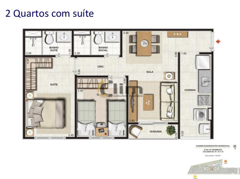 apartamento - ref: cj21756