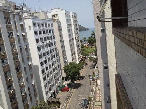 apartamento reformado, com 120m² na ponta da praia - ap1132