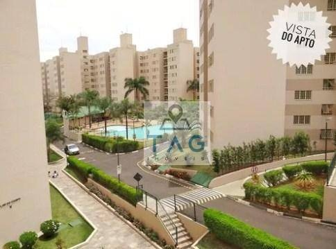 apartamento residencial 3 dormitórios (1 suíte), 1 vaga coberta garagem, à venda, loteamento parque são martinho, campinas/sp. - ap0235