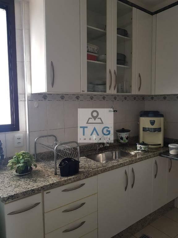 apartamento residencial com 3 dormitórios (1 suíte), 1 vaga descoberta garagem, venda, mansões santo antônio, campinas/sp. - ap0347