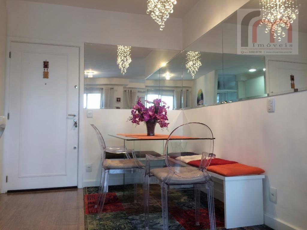 apartamento residencial mobiliado à venda, marapé, santos. cond. acqua play resort - codigo: ap2023 - ap2023