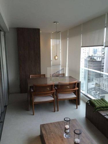 apartamento residencial para locação, brooklin, são paulo. - ap0082