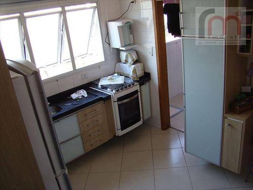 apartamento residencial para locação, campo grande, santos - ap0209. - ap0209