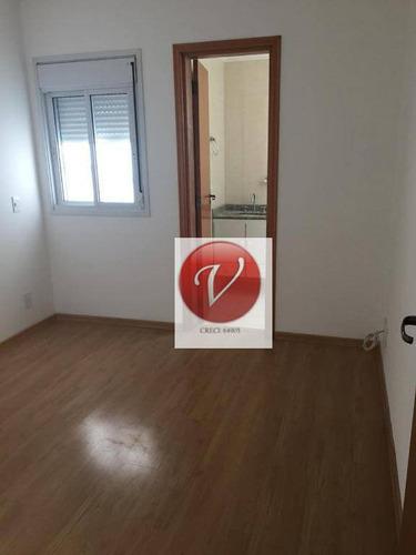 apartamento residencial para locação, centro, santo andré. - ap8473