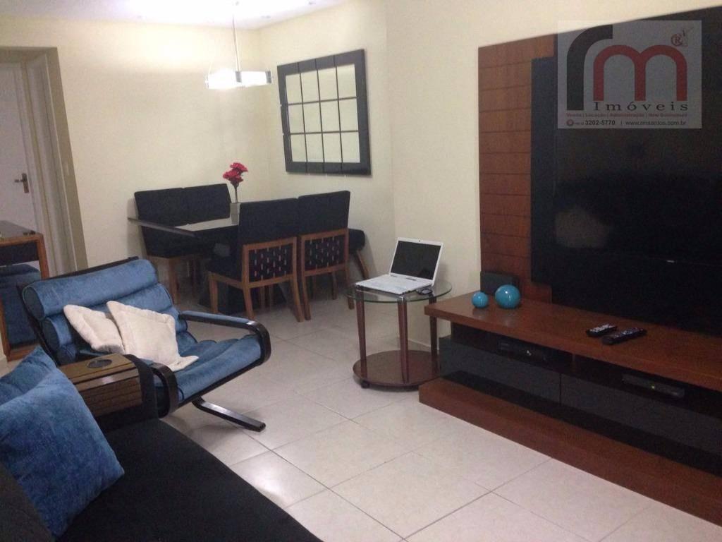apartamento  residencial para locação, marapé, santos. - codigo: ap1827 - ap1827