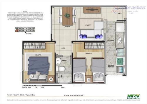 apartamento residencial para locação, parque chapada do poente, nova várzea grande,  várzea grande. - ap0745