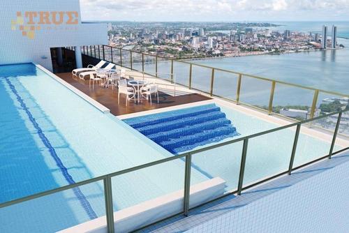 apartamento residencial para locação, pina, recife. - ap2524
