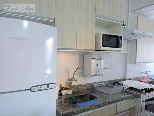 apartamento residencial para locação, pitangueiras, guarujá. - fl0118