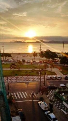 apartamento residencial para locação, ponta da praia, santos - ap0590. - ap0590