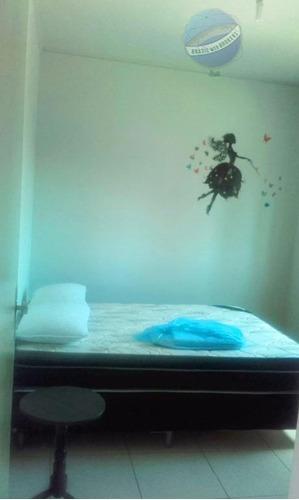 apartamento residencial para locação, ponta negra, natal. - ap0107