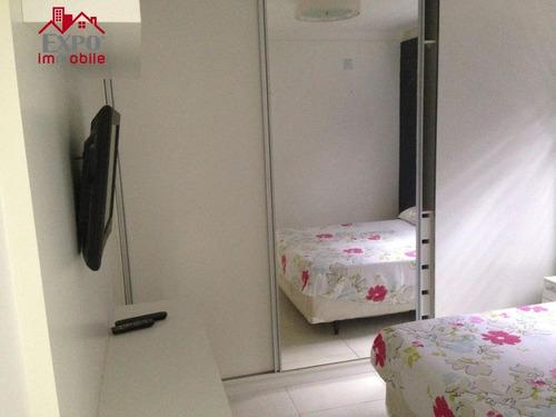 apartamento residencial para locação, vila brandina, campinas. - ap0316