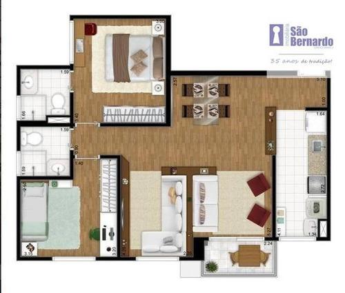 apartamento residencial para venda e locação, jardim são vito, americana. - ap0711