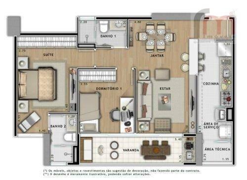 apartamento residencial para venda e locação, vila matias, santos - ap0694. - ap0694