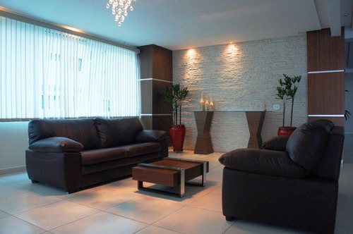 apartamento residencial à venda, 3 dormitórios, suíte, 144 m², vista mar, piscina, vila guilhermina, praia grande. - ap2007