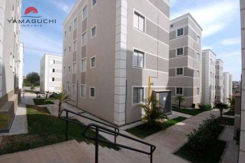 apartamento residencial à venda, 51 m²,  residencial parque padovani, paulínia - ap0004. - ap0004