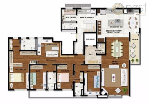 apartamento residencial à venda, ahú, curitiba. - ap0442