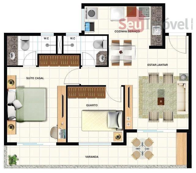 apartamento  residencial à venda, aldeota, fortaleza. - ap0498