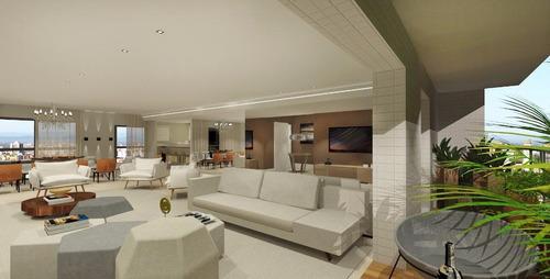 apartamento residencial à venda, aparecida, santos - ap0418. - ap0418