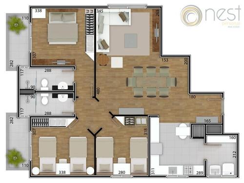 apartamento residencial à venda, bacacheri, curitiba - ap0439. - ap0439