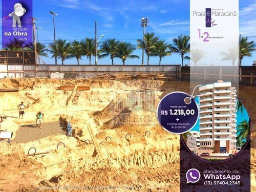 apartamento residencial à venda, balneário maracanã, praia grande. - ap0129